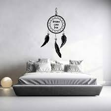 Dreamcatcher Dreams Come True Wall Decal By Glix Color Grey Dimensions Width X Height 75x40 Cm