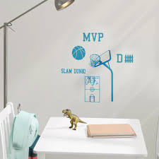 Zoomie Kids Haskett Basketball Wall Decal Set Wayfair