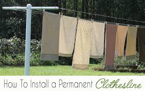 how to install a permanent clothesline