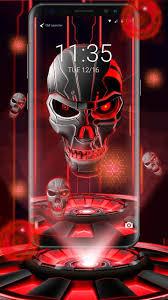 3d الأحمر الجمجمة موضوع القفل For Android Apk Download