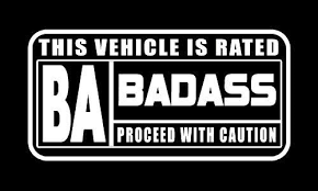 Rated Badass Cool Decal Sticker Hot Rod Street Outlaws Nhra Rat Rod Street Outlaws Funny Bumper Stickers Street Racing Cars