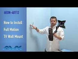 how to install full motion tv wall