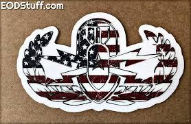 Grunge Flag Eod Badge Clear Stickers Eodstuff By Bombbullie