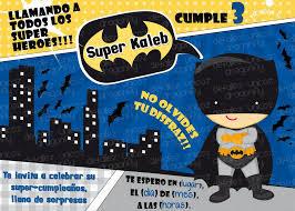 Invitaciones De Cumpleanos De Batman En Hd Gratis Para Bajar Al