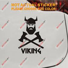 Viking Warrior Decal Sticker Norse Nord Norway Norwegian Car Vinyl Pick Size B