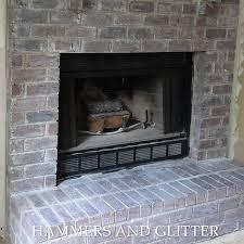 whitewashing a brick fireplace so easy