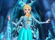 frozen elsa dress up and hairstyle