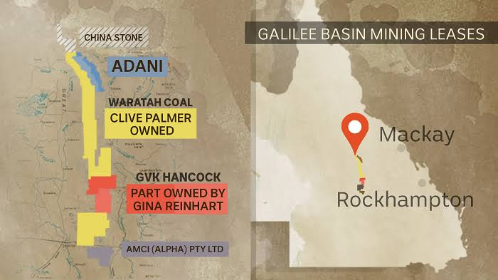 Image result for Waratah Coal on map