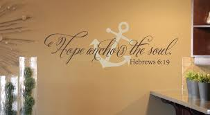 Hope Anchors The Soul Wall Decal Set Anchor Decal Bible Verse Wall Decal Tweet Heart Home Design