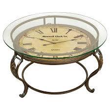 temps coffee table glass top coffee