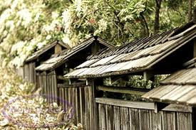 Japanese Fence Tiers Each Protected By Wooden Tiled Roof Japanese Fence Hot Tub Garden Japanese Garden