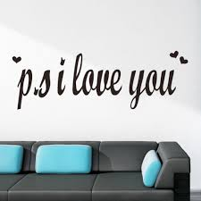 Ps I Love You Romantic Vinyl Wall Sticker Decal Quote Saying Mural Home Decor Home Garden Decor Decals Stickers Vinyl Art Ayianapatriathlon Com