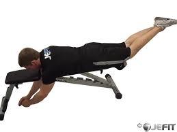 reverse hyper on flat bench exercise