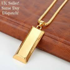 supreme gold bar necklace pendant chain