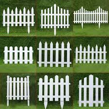 Small Wood Fencing White Pvc Plastic Fence Courtyard Indoor European Style Garden Vegetable Driveway Gates Christmas Decor Decorative Stakes Wind Spinners Aliexpress