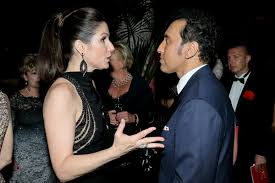 Stephanie J. Block, Aasif Mandvi - Stephanie J. Block and Aasif ...