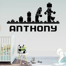 Lego Personalized Custom Babys Name Vinyl Wall Sticker For Babys Rooms Kids Room Decoration Decal Stickers Murals Wallstickers Wall Sticker Quotes Wall Stickers From Joystickers 11 58 Dhgate Com