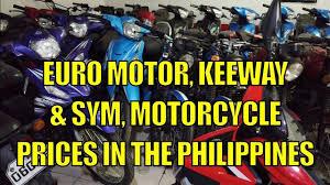 euro motor keeway sym motorcycles