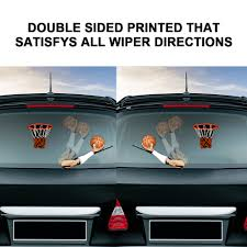 New Cool Basketball Car Styling Rear Window Wiper Stickers Waving Wiper Rear Windshield Stickers And Decals For Auto Decorations Car Stickers Aliexpress