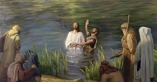 Znalezione obrazy dla zapytania: chrzest jezusa w jordanie