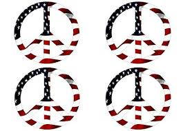 Pack Of 4 Red White Blue Usa Peace Sign Symbol Decal Sticker American Flag Usa Large Inch Patriotic Aut American Flag Sticker Bumper Stickers Peace Sign Symbol
