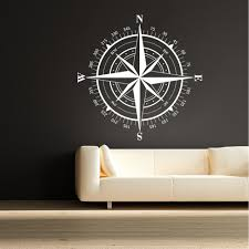 Compass Rose Nautical Vinyl Wall Decal Travel Decor Christmas Gift Holiday Gifts 56cm X56cm Vinyl Wall Decals Wall Decalsvinyl Wall Aliexpress