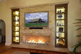 marble fireplace tv wall with wenge