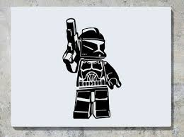 Lego Boba Fett Bounty Hunter Star Wards Wall Decal Art Sticker Picture Ebay