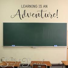 Learning Is An Adventure Wall Decal Stencil For School Classroom Decor Wall Lettering Wall Decals The Simple Stencil