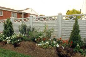 Crete Co Concrete Fence Photos Shell Backyard Fences Concrete Fence Fence Design