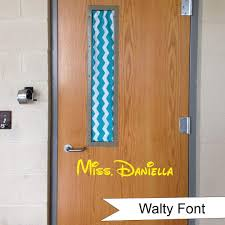 Amazon Com Teacher Door Or Wall Personalized Name Or Word Vinyl Wall Decal Sticker Handmade