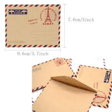 Paquete De 80 Hostk Mini Tarjetas De Sobres De Papel Kraft Lindo