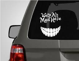 Alice In Wonderland Cheshire Cat Car Decal Car Decals Vinyl Car Decals Family Car Decals