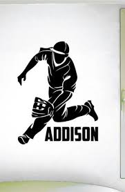 Baseball Custom Name Wall Decal 0282 Personalized Boys Baseball Wall Wall Decal Studios Com