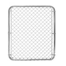 Peak Products 3 1 3 Ft W X 4 Ft H X 1 3 8 Inch D Galvanized Steel Chain Link Fence Gate The Home Depot Canada