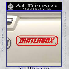 Matchbox Toy Car Decal Sticker A1 Decals