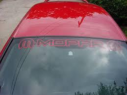 Mopar Windshield Banner Pics Dodge Srt Forum