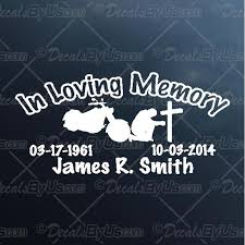 Best Deals On In Loving Memory Motorcycle Rider Car Stickers