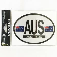 Oval Australia Car Decal