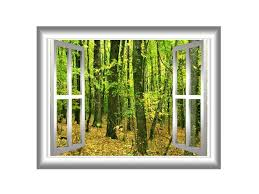 Vwaq Autumn Wall Decal 3d Forest Wall Decals Peel And Stick Mural Large Vwaq Nw24 Newegg Com