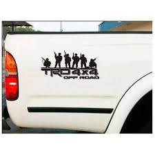 Toyota Trd Off Road Soldier Decal Set Of 2 Toyota Trd Stickers Custom Sticker Shop