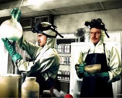 Bryan Cranston As Walter White And Aaron Paul As Jesse Pinkman ...