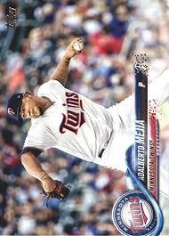 2018 Topps Baseball #494 Adalberto Mejia Minnesota Twins at ...