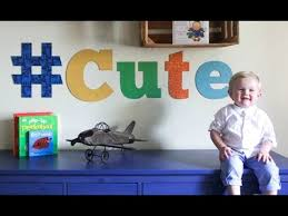 How To Stencil Cute Wall Art Letters For Kids Room Decor Youtube