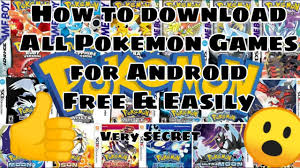 How to download Any Pokemon Games For Android Easily & Free ...