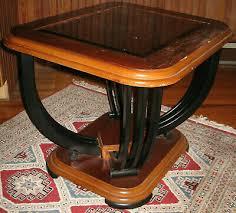 glass top wooden frame black iron legs