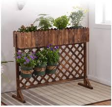 Amazon Com Zengai Garden Fence Trellis Fence Wood Fence Cut Off Obstacle Patio Indoor Anticorrosive Wood Decoration Network Lattice Brown Color Brown Size 120x99x25cm Garden Outdoor