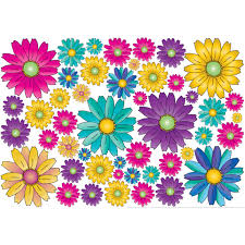 Gerber Daisy Flower Wall Decals Stickers Gerber Flower Wall Decor Walmart Com Walmart Com