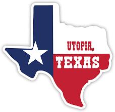 Amazon Com R And R Imports Utopia Texas Souvenir Vinyl Decal Sticker Small 2 Inch Automotive