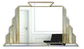 handcrafted art deco wall mirror